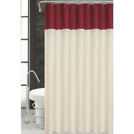 Monaco Shower Curtain Sequined Taffeta Kashi Home 70x72