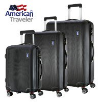 American Traveler Lightweight Anti-scratch 3 Piece Luggage Set ...