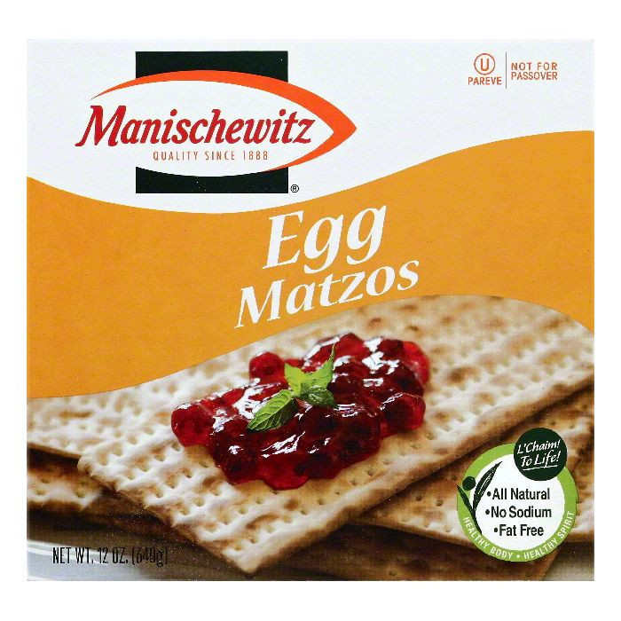 Manischewitz Egg Matzos Crackers, 12 oz, - Pack of 12