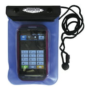 Shoreline Marine Waterproof Phone/Camera Dry Pouch 4.4 x 6.4in, Clear/Blue