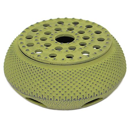 Green Hobnail Small Dot Japanese Cast Iron Tetsubin Teapot Candle Warmer New