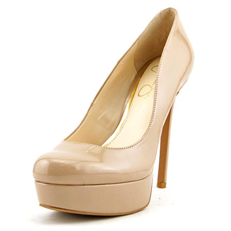 Jessica Simpson Sandrah Women Open Toe Synthetic Nude Platform Heel