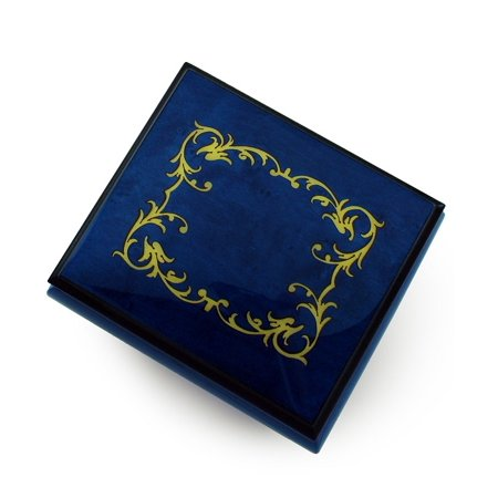 Classic Royal Blue Arabesque Wood Inlay Music (Arabesque Wood)