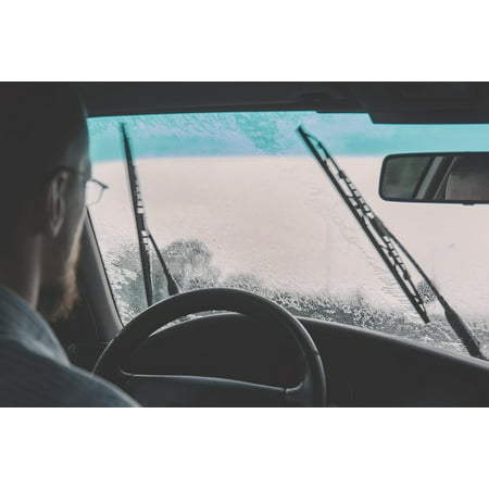 Multi Windshield - LAMINATED POSTER Driving Windshield Car Raining Windshield Wipers Poster Print 24 x 36