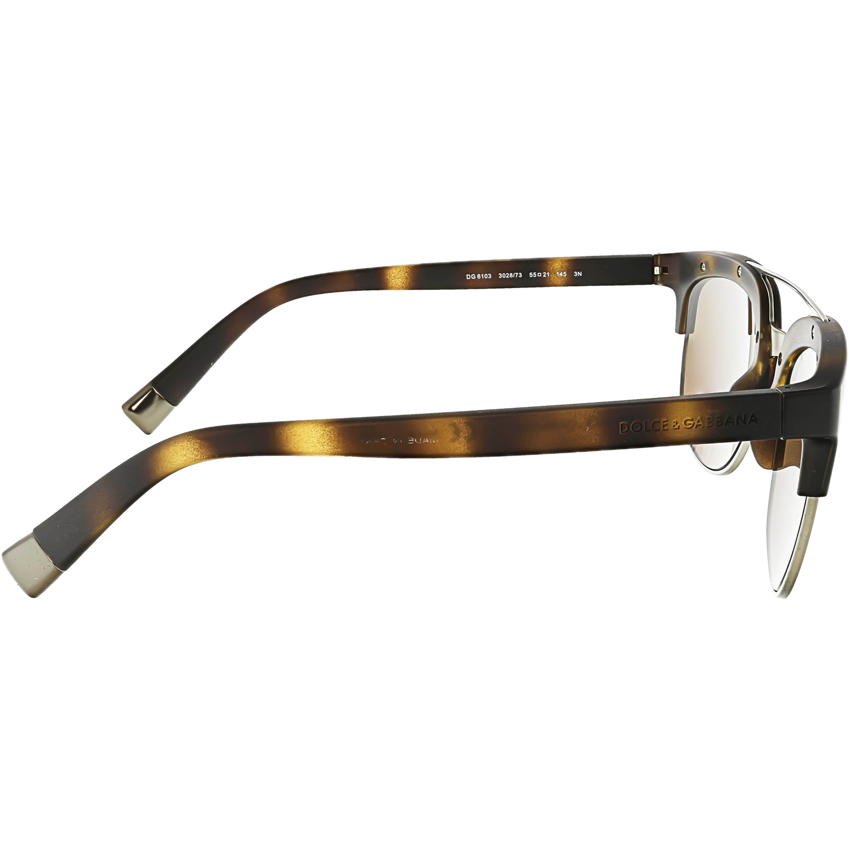 Dolce   Gabbana - DOLCE   GABBANA Sunglasses DG 6103 193487 Matte Black  55MM - Walmart.com df66066646af