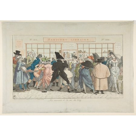 Les Musards De La Rue Du Coq  Dawdlers Of The Rue Du Coq  Poster Print By Pierre Nolasque Bergeret  French Bordeaux 1782   1863 Paris   18 X 24