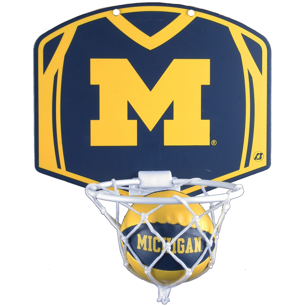 Michigan Wolverines Mini Basketball And Hoop Set