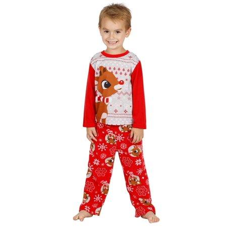 Teen Footie Pajamas (Rudolph s Red Nose Family Sleep 2-Piece Pajama Set Or Footie, Kids, Size:)