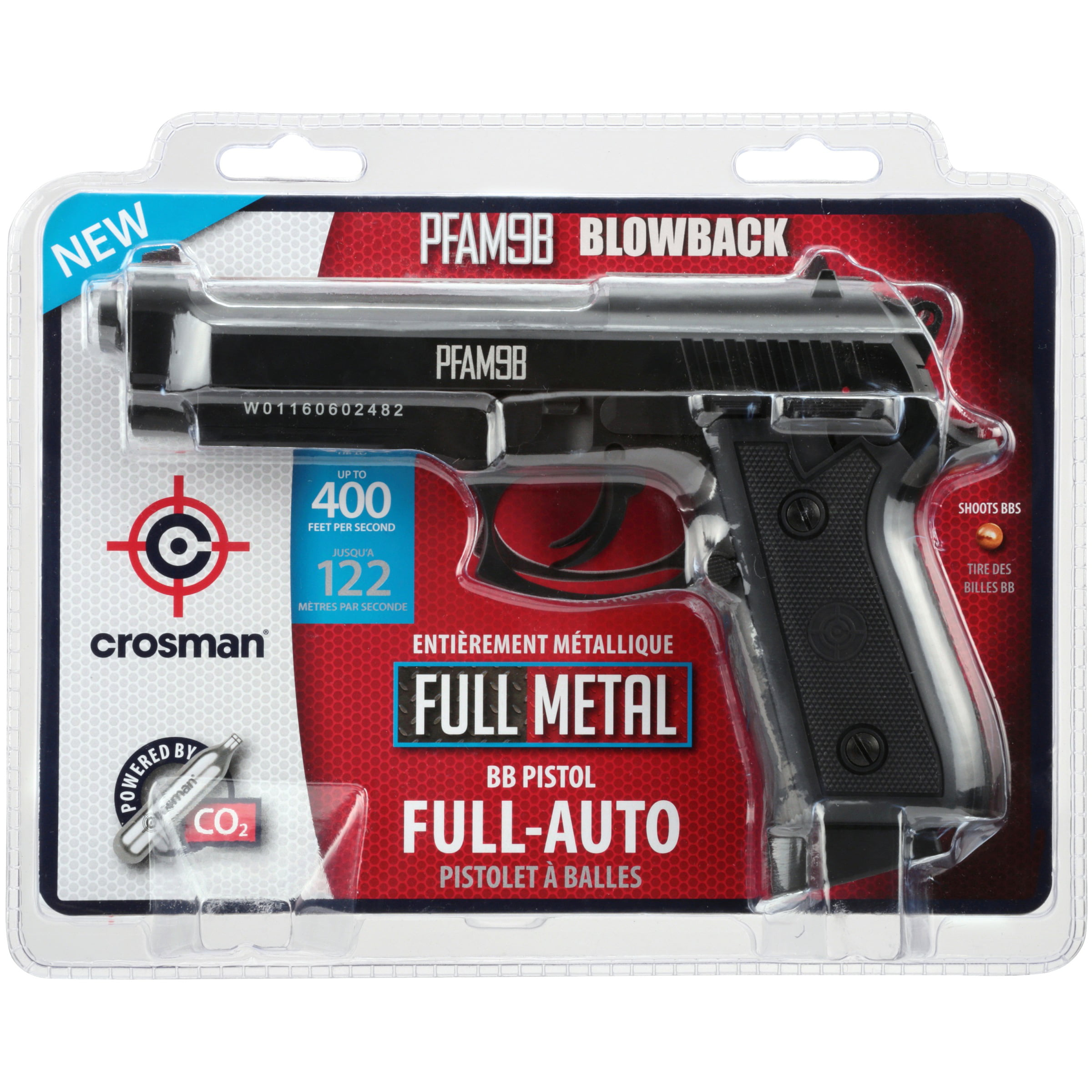Click here to buy Crosman PFAM9B CO2 Power, Full Auto, Blowback Pistol PFAM9B by Crosman Corporation.