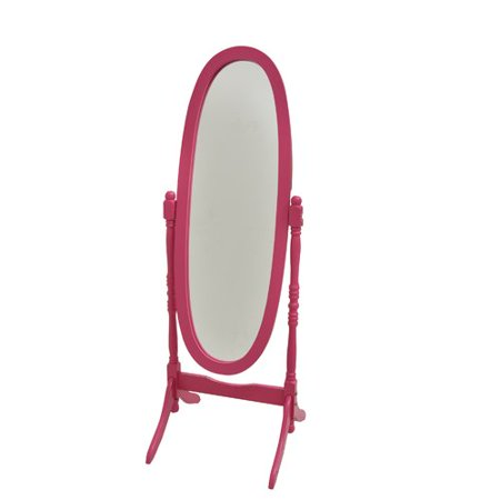 Darby Home Co Cheval Mirror With Crystal Knobs