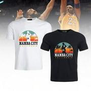 KABOER Men Summer Fashion Mamaba Basketball Star Kobe-Bryant Graphic Printed Tee Shirt Casual Basic Short Sleeve T Shirt