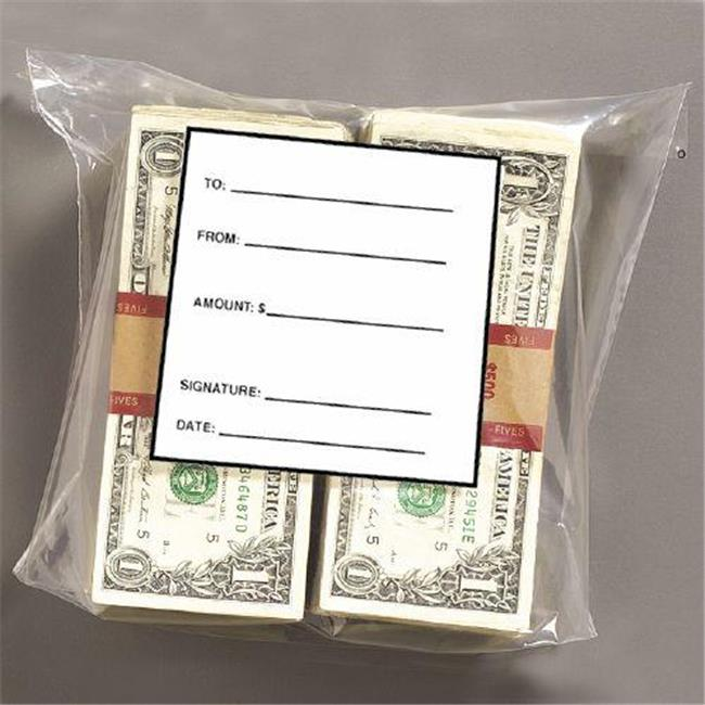 MMF 236006820 Double Wide Strap Bag - 8.5 X 7.5 X 3 Inches - Holds 1000 Bills - Packed 1000 Bags Per Box