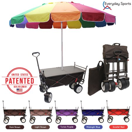 Everyday Sports Outdoor Folding Wagon Collapsible Camping