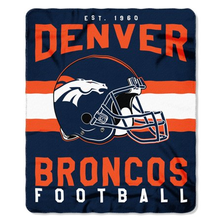 "NFL Denver Broncos ""Singular"" 50"" x 60"" Fleece Throw"