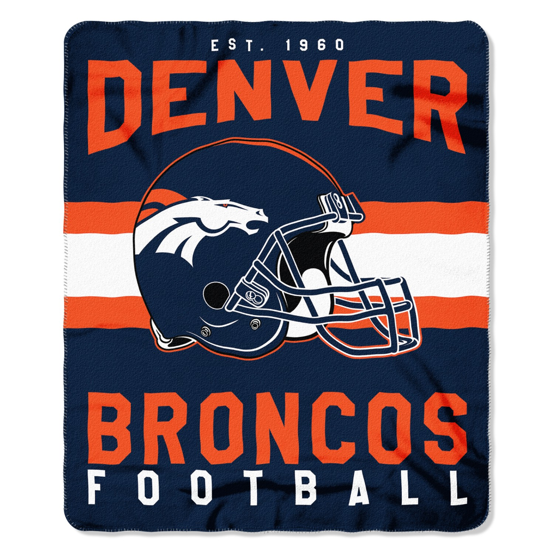 "NFL Denver Broncos ""Singular"" 50"" x 60"" Fleece Throw"