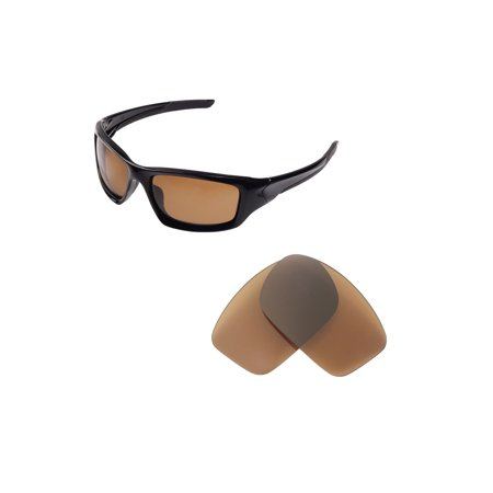 Walleva Brown Polarized Replacement Lenses for Oaklay New Valve(2014&after)