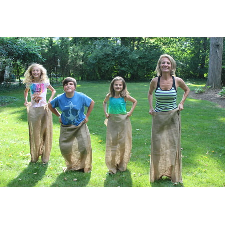Burlapper Burlap Potato Sack Race Bags (4 Bags - 24 Inch x 40 Inch)](Bags For Sack Races)