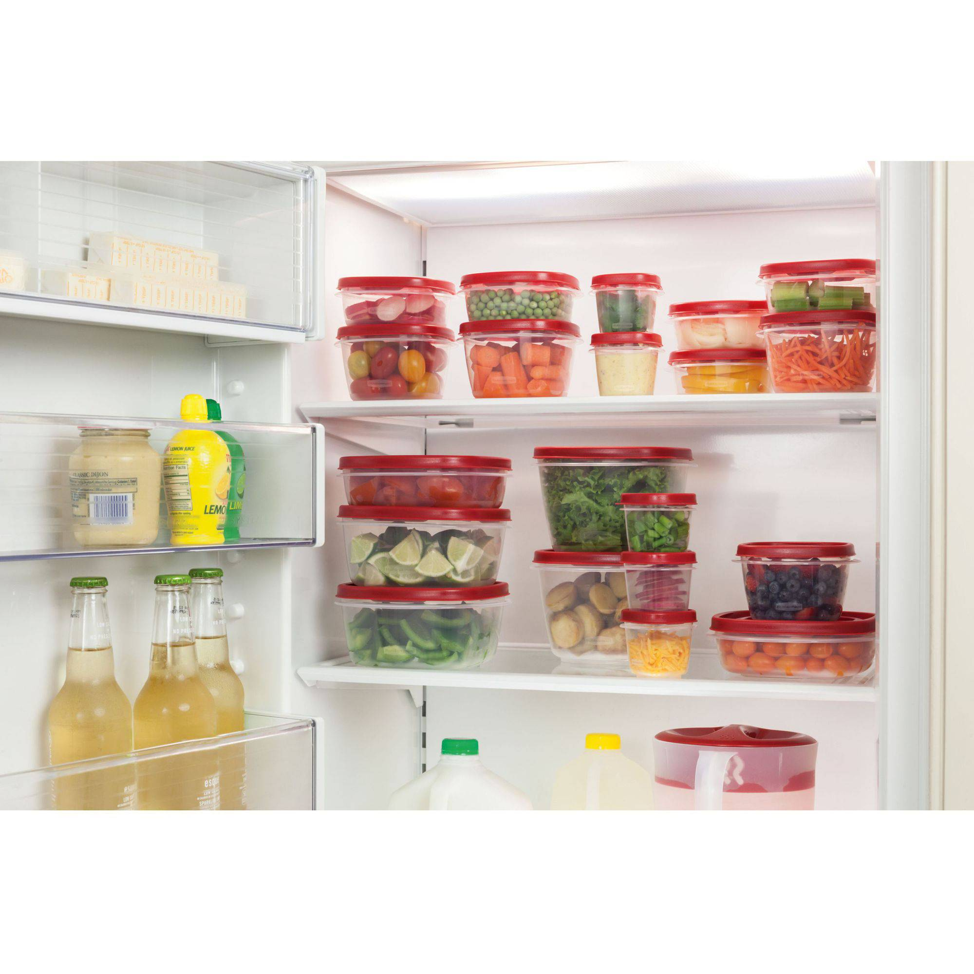 Rubbermaid Easy Find Lids Food Storage Container 40 Piece Set Red
