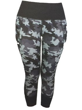 53b2b1eee Product Image Active Life Womens Size Medium Vented Legging Active Pant,  Black/Grey Camo
