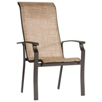 """41"""" Beige Sling Back Pack Of 4 Dining Chairs"""