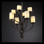 Justice Design Group CandleAria 8-light Cream with Dark Bronze Chandelier