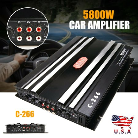 5800W C-266 RMS 4 Channel Powerful Car Amplifier Audio Power Stereo Amp 4Ohm
