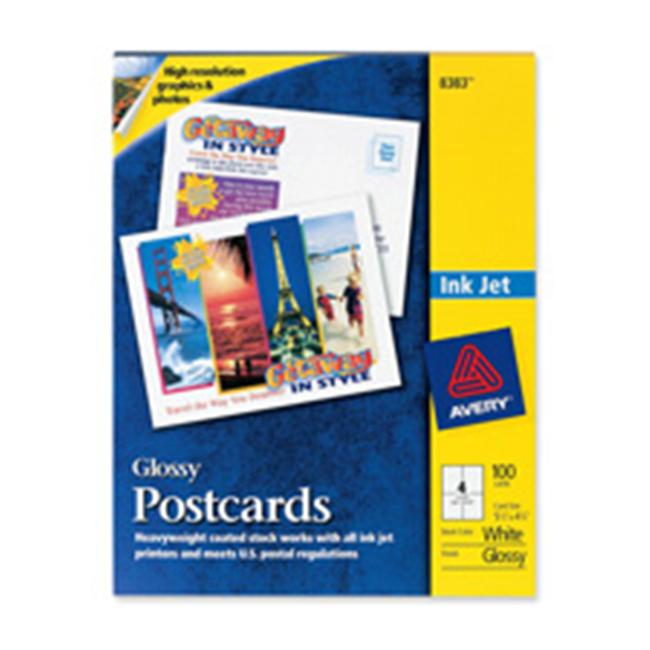 Avery Consumer Products AVE8387 Inkjet Postcard- Perforated- 5-.50in.x4-.25in.- Matte- WE by Avery