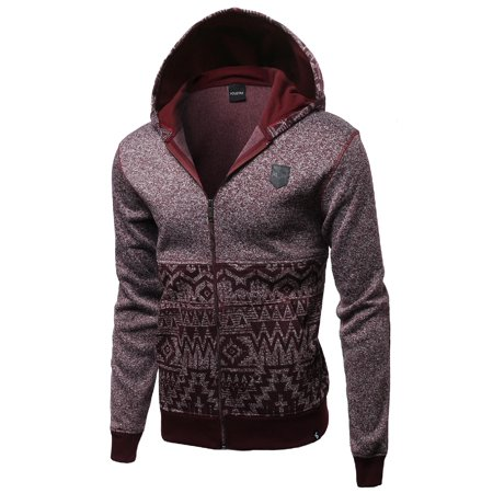 FashionOutfit Men's Fine Quality Plush Fleece Lined Zip up Hoodie (Plush Zip Jacket)