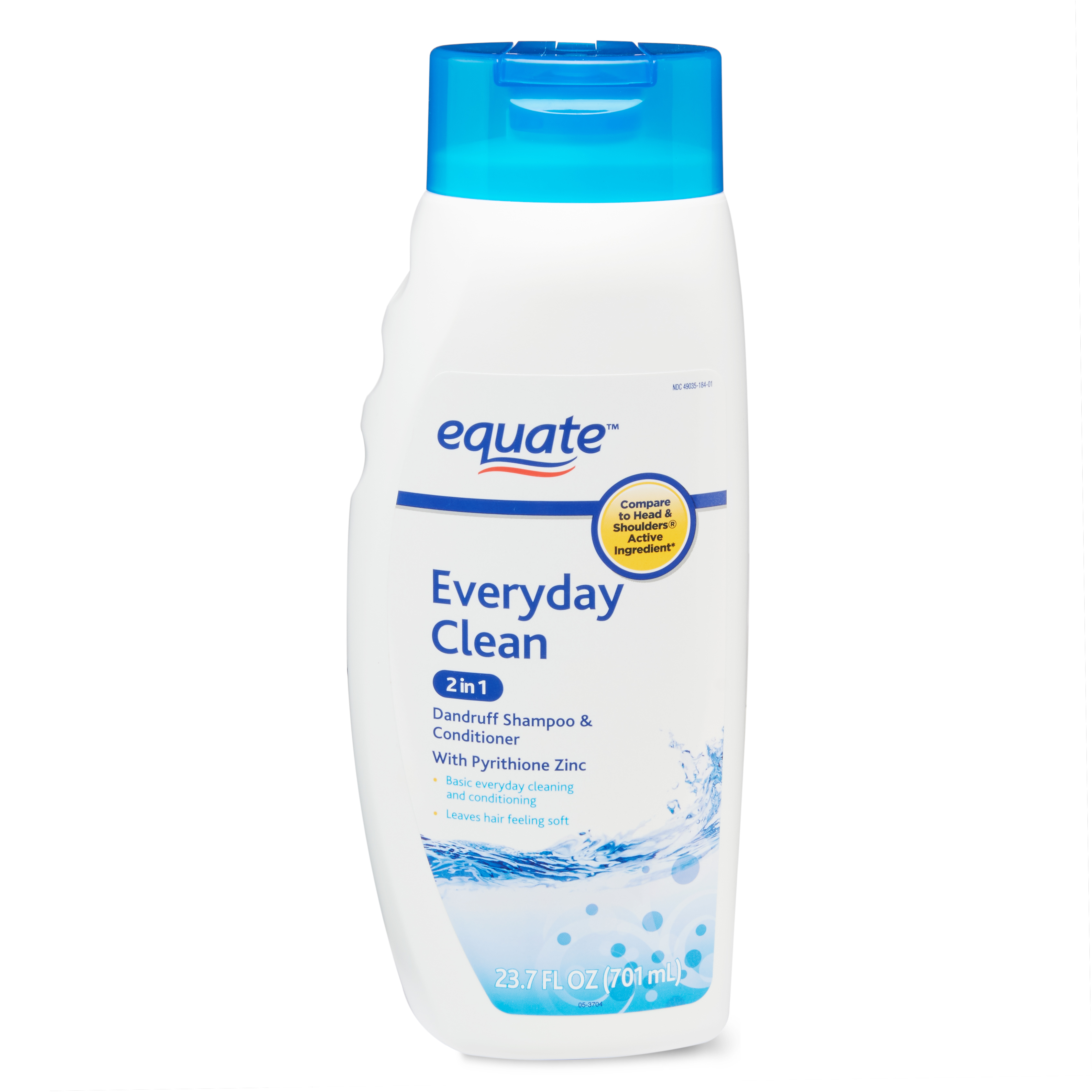 Equate 2-in-1 Dandruff Shampoo & Conditioner, Everyday Clean, 23.7 fl oz