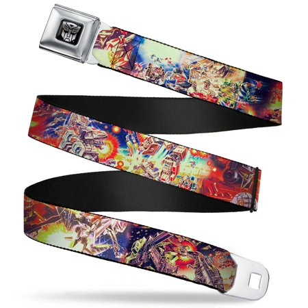 Transformers Autobot Logo Full Color Black Silver Gradient Transformers Box Seatbelt Belt Standard - Girls Transformers