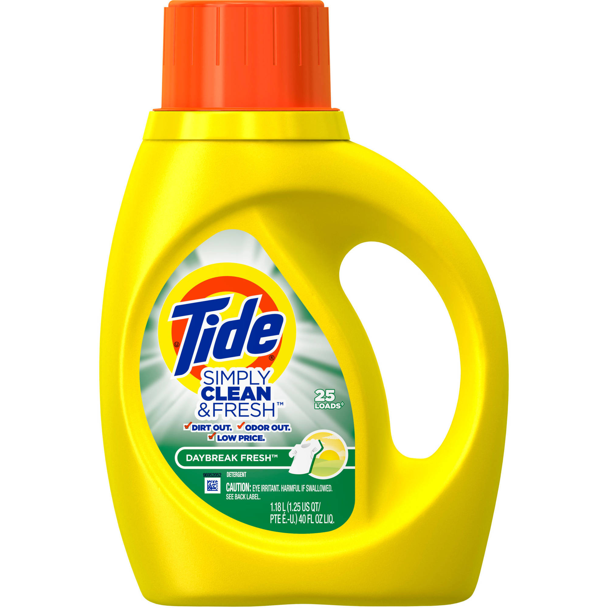 Tide Simply Clean & Fresh HE Liquid Laundry Detergent, Daybreak Fresh Scent, 25 Loads 40 fl oz