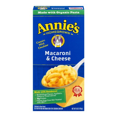 Annies Macaroni And Cheese  Pasta   Classic Mild Cheddar Mac And Cheese  6 Oz Box