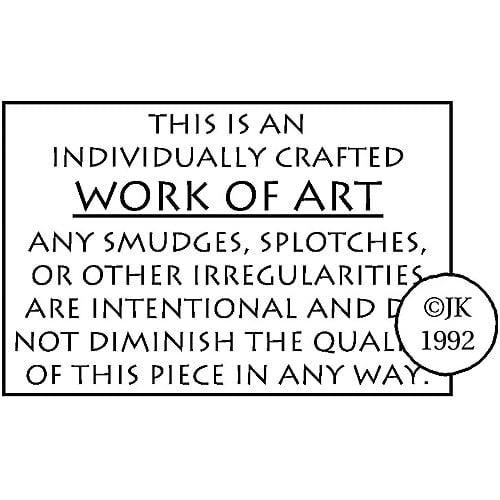 Judikins Rubber Stamp, Work Of Art