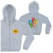 Personalized Yo Gabba Gabba! Friends Gray Kids' Zip-Up Hoodie