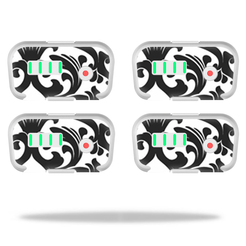 MightySkins Protective Vinyl Skin Decal for DJI Phantom 3 Battery Batteries (4 pack)wrap cover sticker skins Black Damask
