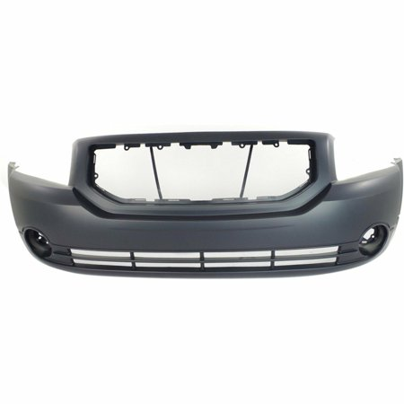 Bumper Hole Cover - NEW FRONT BUMPER COVER W/ FOG LIGHT HOLES FITS 2007-2012 DODGE CALIBER 5183394AE