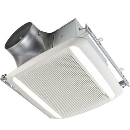 Broan XB110L1 110 CFM 0.3 Sone Ceiling Mounted LED Lighted Exhaust Fan with