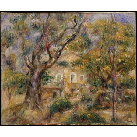 """French Limoges Box - The Farm at Les Collettes Cagnes Poster Print by Auguste Renoir (French Limoges 1841  """"1919 Cagnes-sur-Mer) (18 x 24)"""