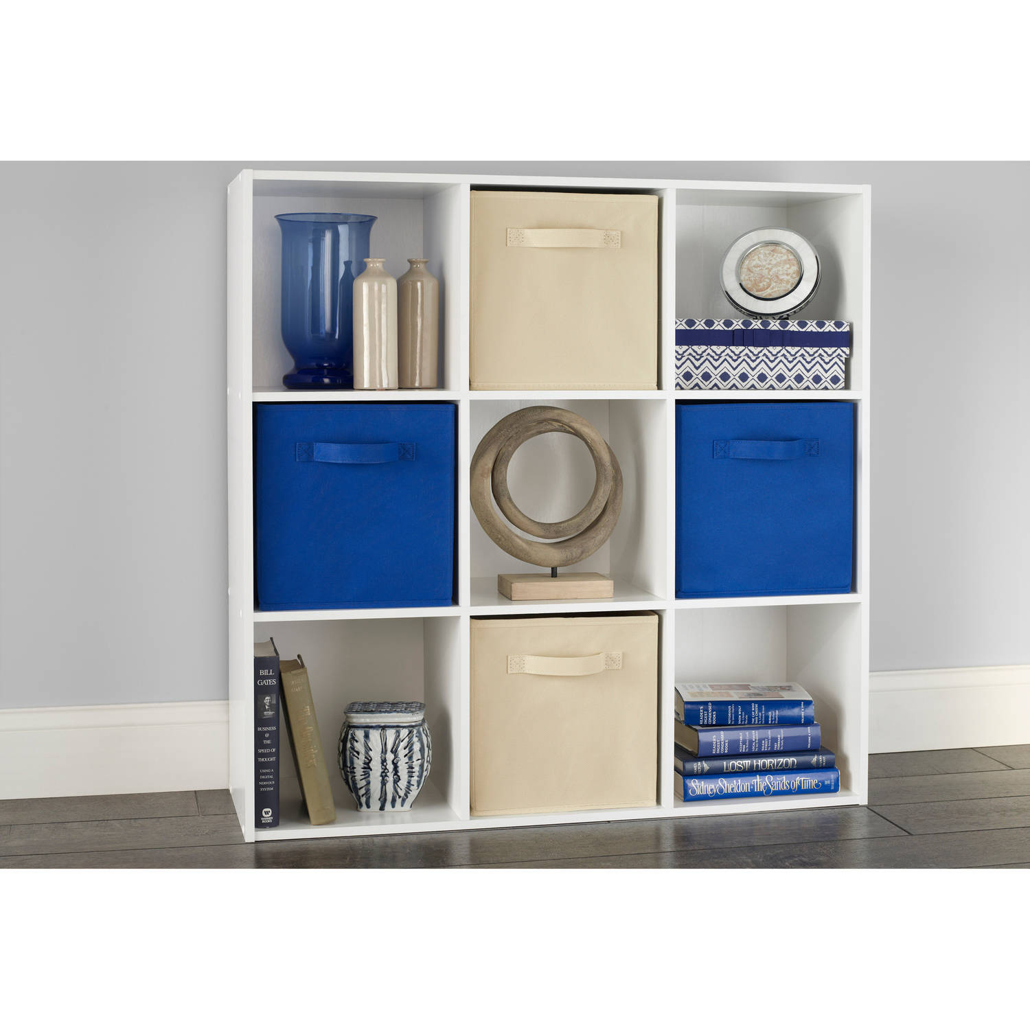 Beau ClosetMaid Cubeicals 9 Cube Organizer, White