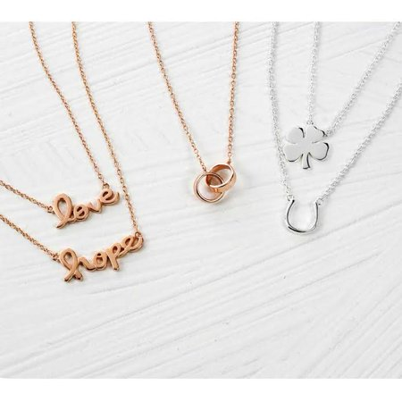 d10ee4d85bdd4 Interlocking Circle Eternal Love Pendant Necklace For Women Mother Daughter  Couples Rose Gold Plated 925 Sterling Silver