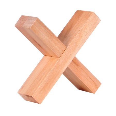 Halloween Criss Cross Puzzles (Wooden Cross Shape Kong Ming Lock Ruban Puzzles for Kids Children Learning Educational)