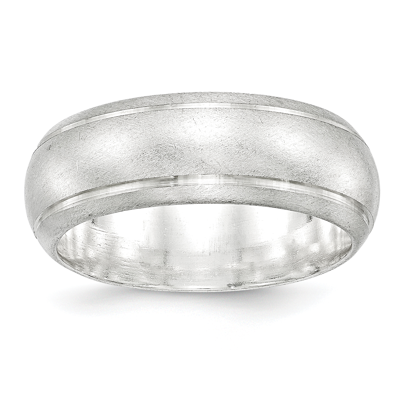 925 Sterling Silver 8mm Finish Wedding Ring Band Size 9.00 Classic Fine Jewelry Gifts For Women For Her - image 2 de 2