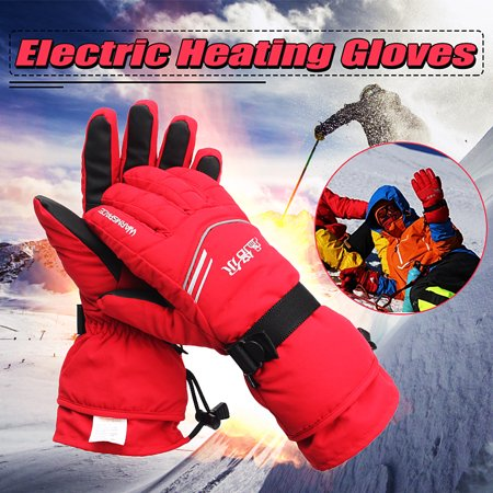 H2o Motorcycle Gloves - Electric Heated Gloves Rechargeable Battery Outdoor Work Motorcycle Hands Warmer M/XL Size