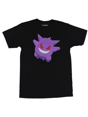 58441d15b Product Image Pokemon (Nintendo) Mens T-Shirt - Ghostly Gengar Red Eyes  Bright Purple Image