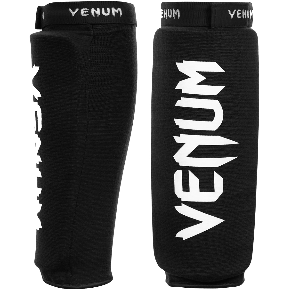 Venum Kontact Protective Slip-On MMA Shin Guards - Black