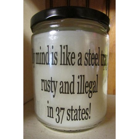 "Star Hollow Candle Company ""My Mind is Like a Steel Trap."" Buttery Maple Syrup Jar Candle"