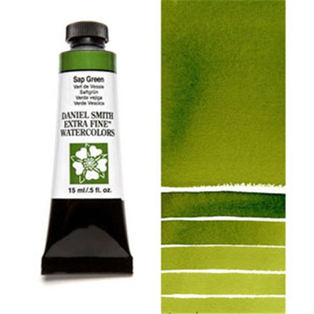 Green Watercolour - Daniel Smith - Extra-Fine Watercolor - 15ml Tube - Sap Green