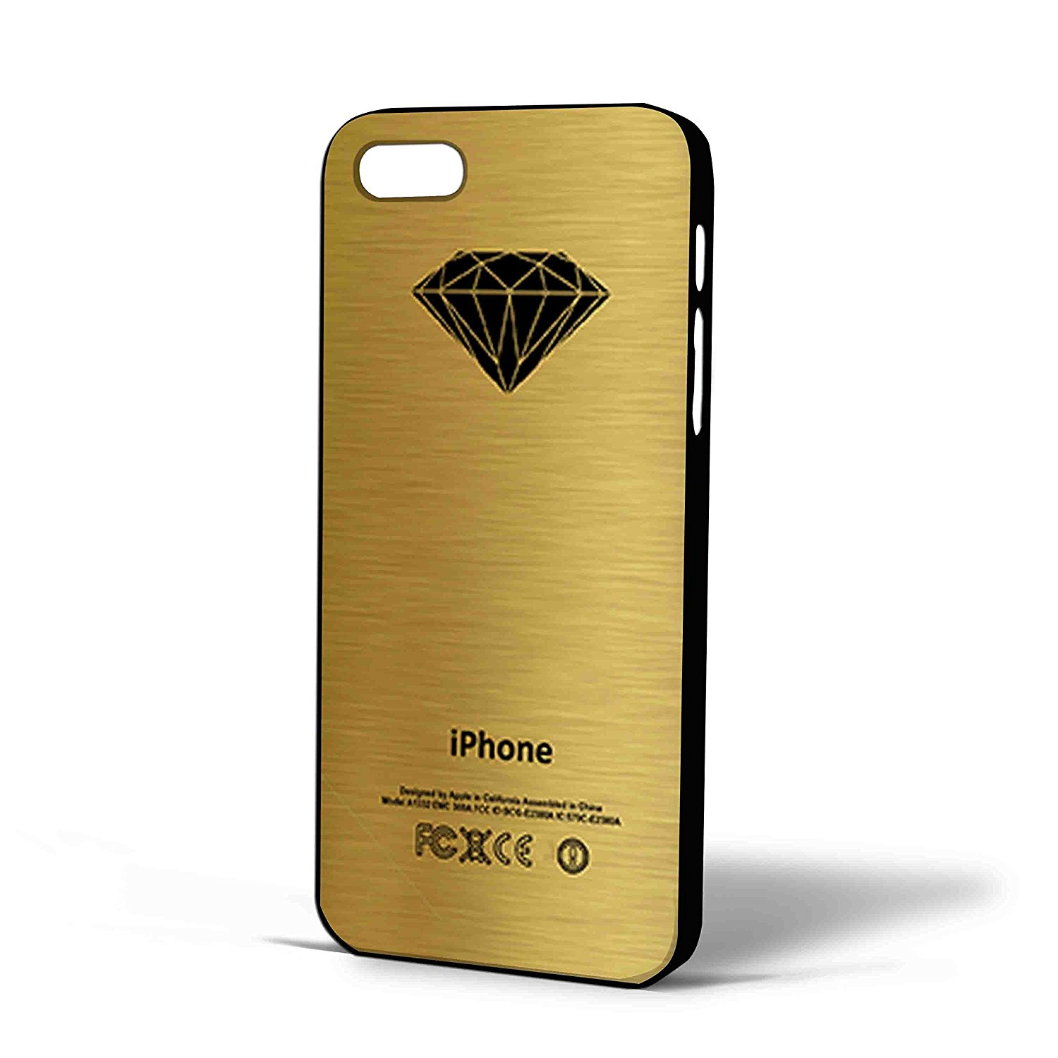 Ganma Diamond Supply Logo Gold Print Case For iPhone Case (Case For iPhone 6 plus white)