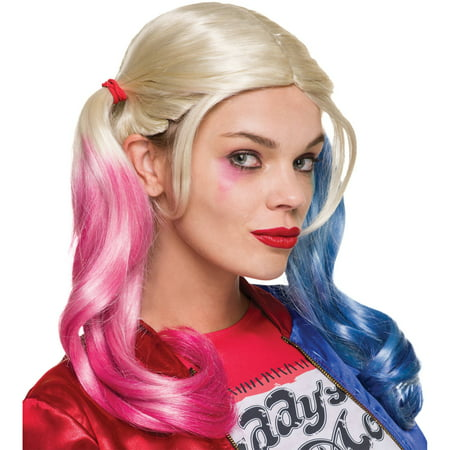 Suicide Squad Harley Quinn Wig Adult Halloween Accessory](Cartoon Harley Quinn Costume)