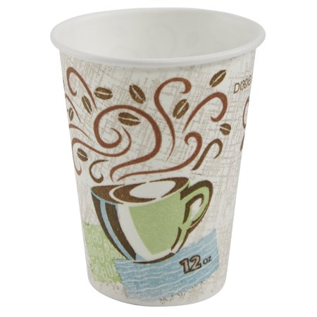 Dixie® PerfecTouch® (5342DX) Insulated 12 oz. Paper Hot Cup by Georgia-Pacific, Coffee Haze, 20 Sleeves of 25 Cups (500 Cups Total)